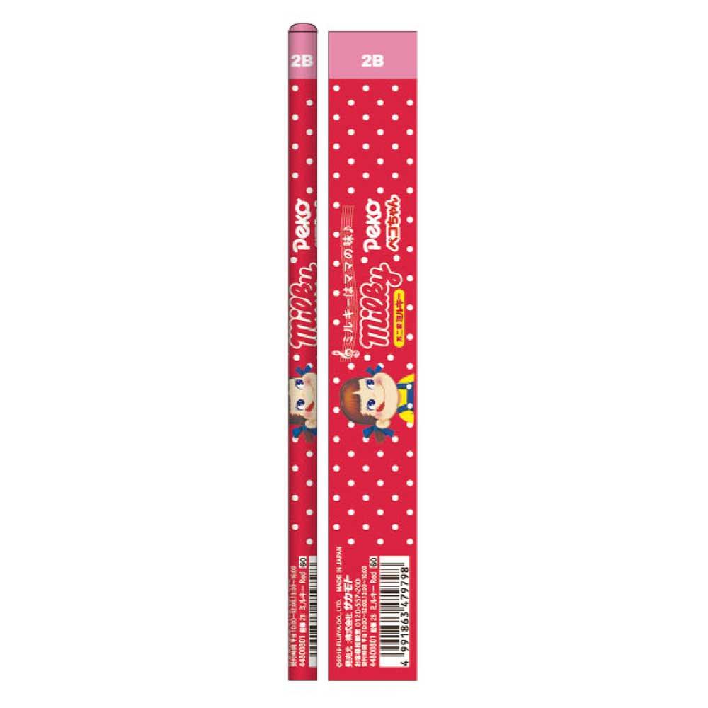 キャラコ おやつ鉛筆2B 5本セット(ミルキーレッド) 44800801 PK