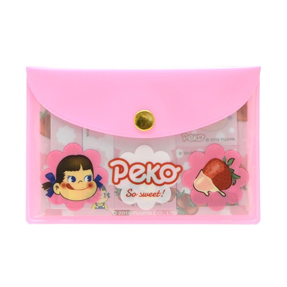 キャラコ ポーチ入り付箋(いちご/ピンク) PE-5523615PK PK