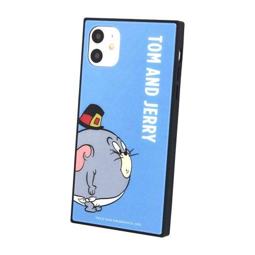 トムとジェリー iPhone11/XR対応 スクエアガラスケース(ライトブルー)TMJ-69LBL