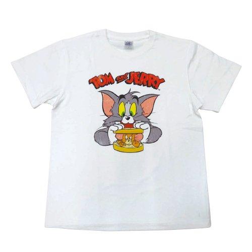 トムとジェリー Tシャツ(サンドウィッチ)ホワイト-5059