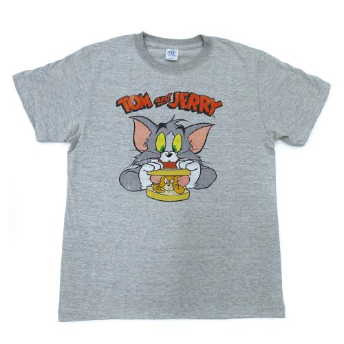 トムとジェリー Tシャツ(サンドウィッチ)ヘザーグレー-5060