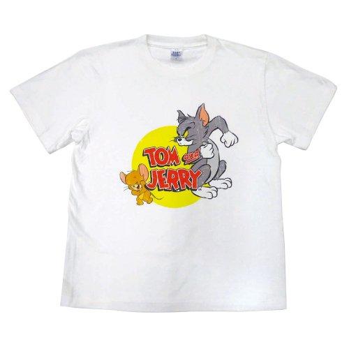トムとジェリー Tシャツ(フタリ)ホワイト-5063
