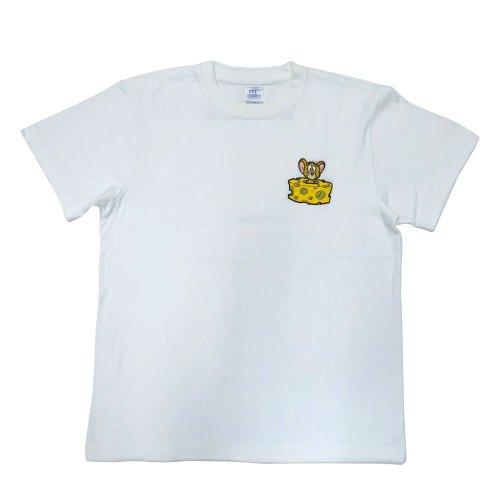 トムとジェリー Tシャツ(チーズ)ホワイト-5075