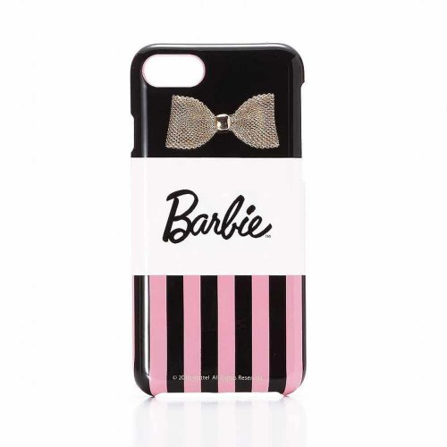 <img class='new_mark_img1' src='https://img.shop-pro.jp/img/new/icons33.gif' style='border:none;display:inline;margin:0px;padding:0px;width:auto;' />【生産終了品】Barbie  iPhone7/8対応 リボンプリントハードケース(ストライプ)LP-BI7HSRA