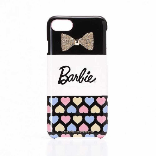 <img class='new_mark_img1' src='https://img.shop-pro.jp/img/new/icons33.gif' style='border:none;display:inline;margin:0px;padding:0px;width:auto;' />【生産終了品】Barbie  iPhone7/8対応 リボンプリントハードケース(ハート)LP-BI7HSRC