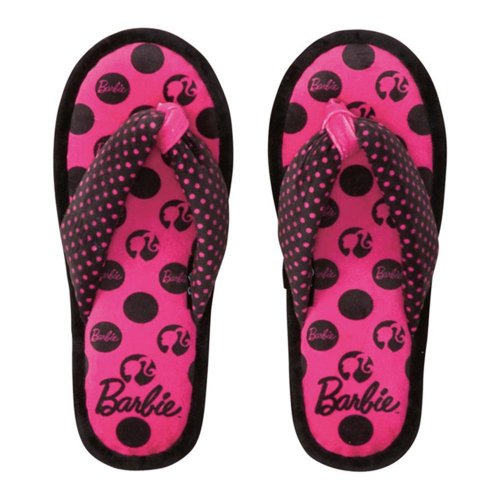 Barbie ルームサンダル(ブラックドットパターン)5425000000