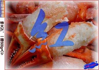 紅ずわい蟹「親爪500g」ボイル済み...境港産