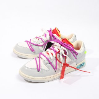 OFF-WHITE×NIKE<br>DUNK LOW 1 OF 50 LOT 45<br>DM1602 101