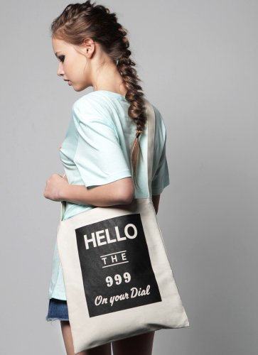 HELLO THE 999  TOTEBAG