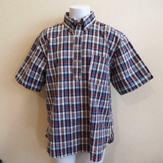 BONCOURA プルオーバー半袖BDシャツ マドラスチェック
