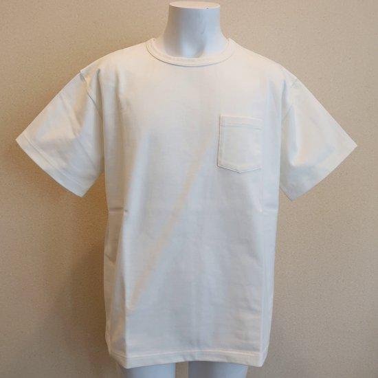 BONCOURA ヘビーウエイトポケットTシャツ アイボリー