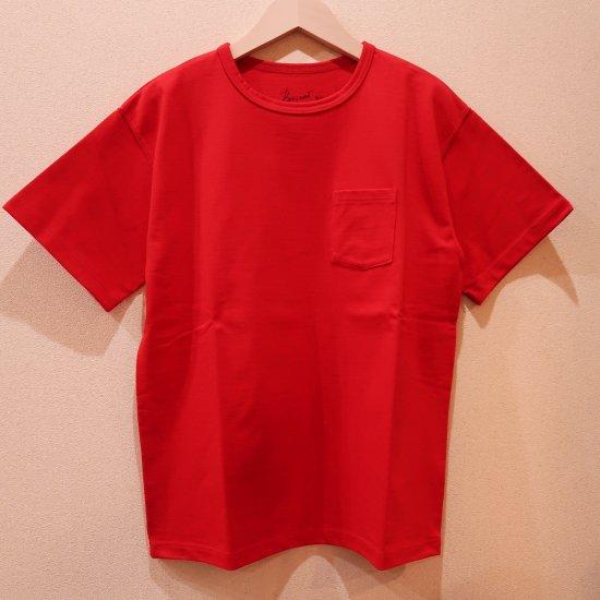 BONCOURA ヘビーウエイトポケットTシャツ レッド