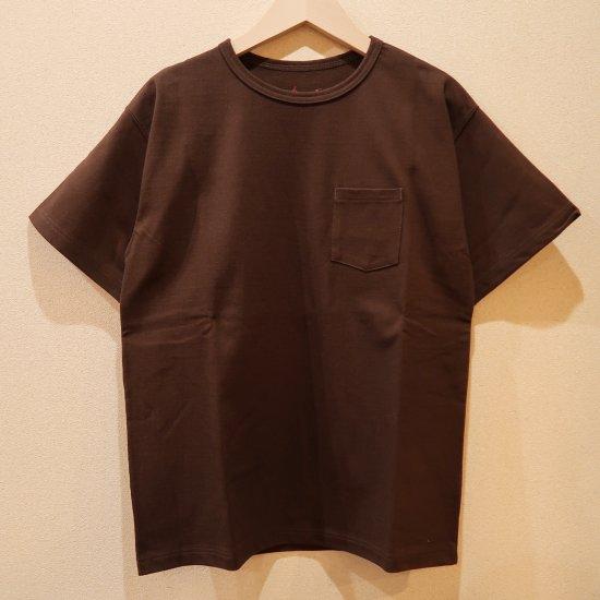BONCOURA ヘビーウエイトポケットTシャツ ブラウン