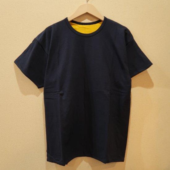 BONCOURA 丸胴リバT NAVY リバーシブルTシャツ
