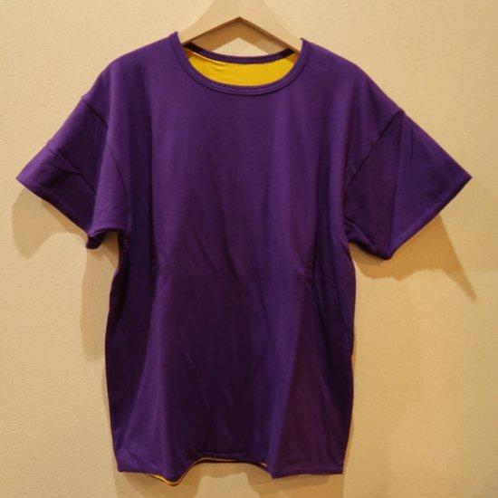 BONCOURA 丸胴リバT パープル リバーシブルTシャツ