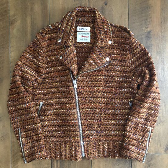 <img class='new_mark_img1' src='https://img.shop-pro.jp/img/new/icons25.gif' style='border:none;display:inline;margin:0px;padding:0px;width:auto;' />COOHEM MULTI TWEED RIDERS JACKET