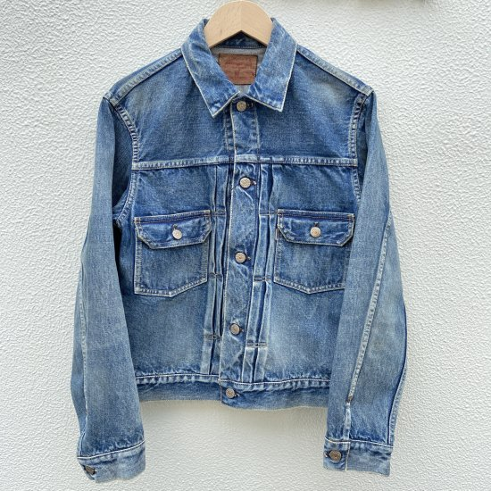 <img class='new_mark_img1' src='https://img.shop-pro.jp/img/new/icons1.gif' style='border:none;display:inline;margin:0px;padding:0px;width:auto;' />JELADO 55Denim Jacket 406XX Vintage Finish フェイドインディゴ