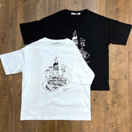 amne オイスターグラフィックTシャツ ユニセックス