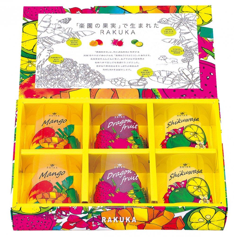 RAKUKA楽園の果実ゼリー(6個)no:RAKS-J6