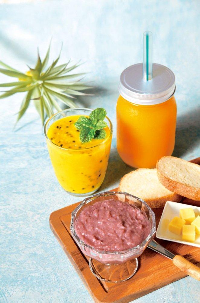 【冷凍】パッションフルーツ&紅芋甘糀の2種セット no:FS-PB1