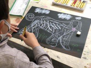 (定員のため新規ご入会受け入れ停止中)絵画&工作 親子教室 土曜10:00〜11:50  ※チケット制