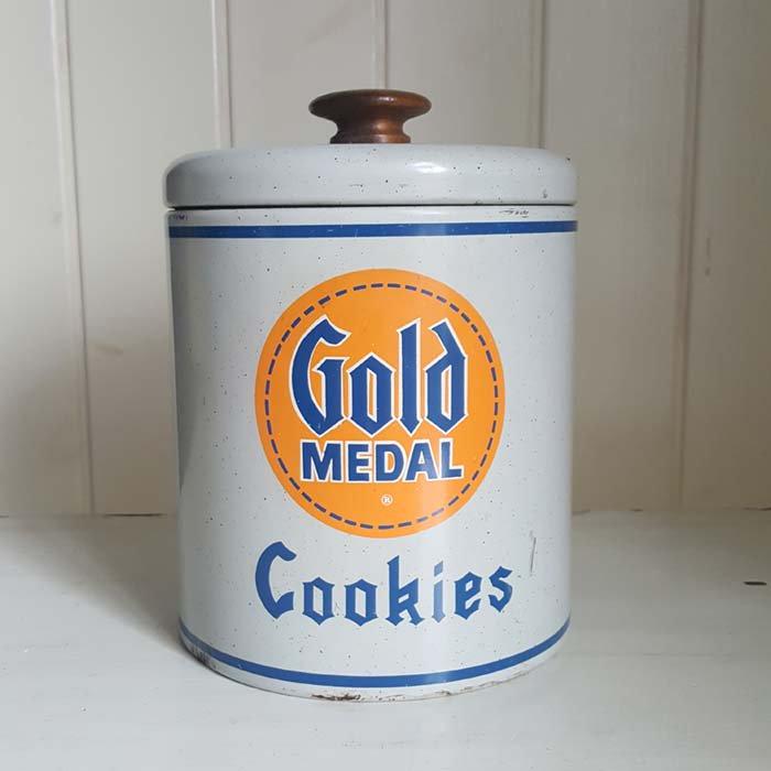 アメリカ・ブロカント・ホーロー・クッキー缶 メインイメージ