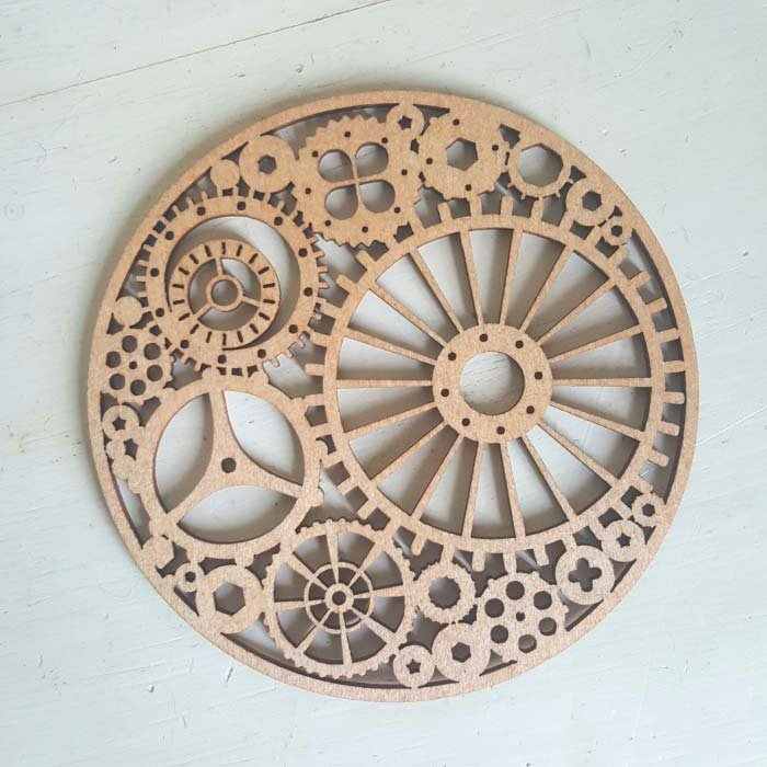リトアニア・木製コースター(時計歯車) メインイメージ