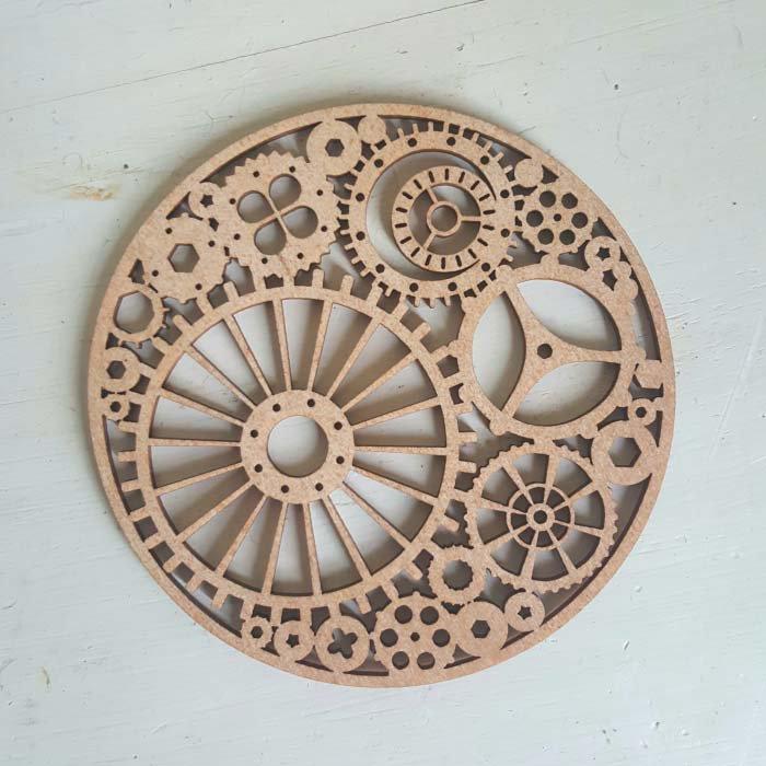 リトアニア・木製コースター(時計歯車) サブイメージ
