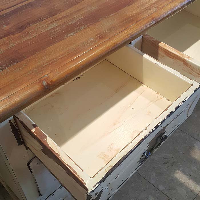 木製アンティーク風・ロングチェスト サブイメージ