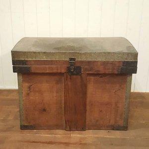 昭和レトロ・ふた付き木箱・BOX