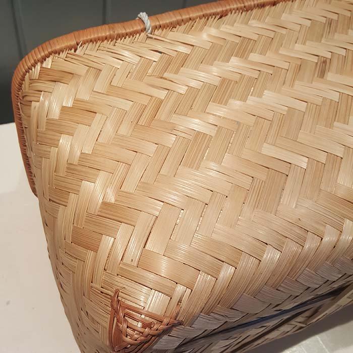 台湾カゴ・Lサイズ・持ち手付きカゴ・竹製 サブイメージ