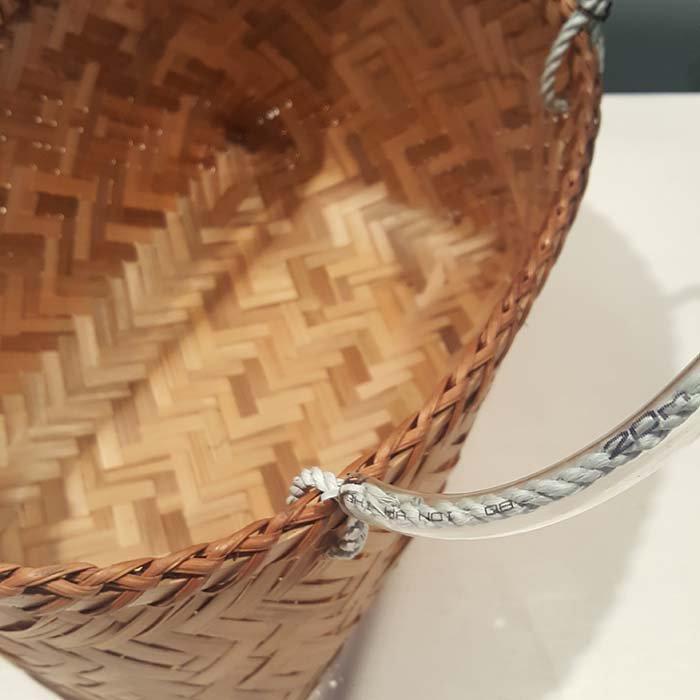 台湾カゴ・Sサイズ・持ち手付きカゴ・竹製 サブイメージ