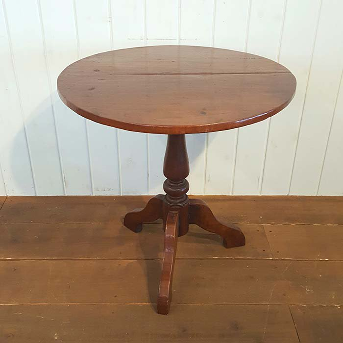 木製アンティーク風デザイン・丸テーブル/送料別途らくらく家財便でお届け メインイメージ