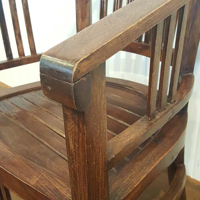 木製アンティーク風デザイン・チェア/送料別途らくらく家財便にてお届け サブイメージ