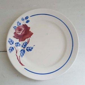 フランス・蚤の市・ブロカント・陶器・絵皿・花柄皿(M)
