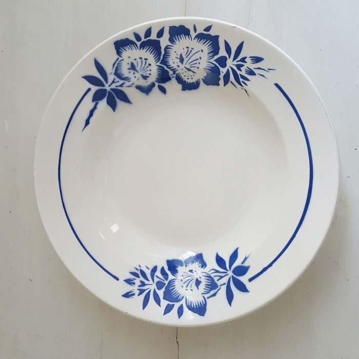 フランス・蚤の市・ブロカント・陶器・絵皿・花柄皿・ブルーフラワー メインイメージ