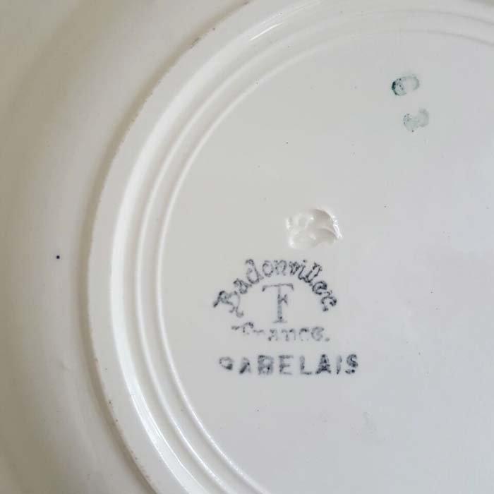フランス・蚤の市・ブロカント・陶器・絵皿・花柄皿・ブルーフラワー サブイメージ