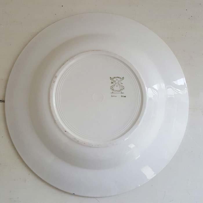 フランス・蚤の市・ブロカント・陶器・絵皿・花柄皿・レトロブルーフラワー サブイメージ