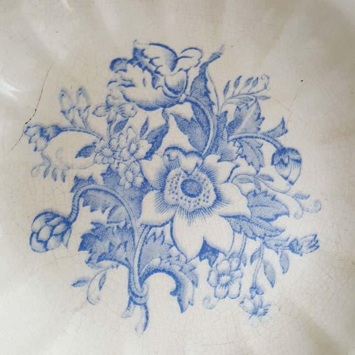 ポルトガル・蚤の市・ブロカント・陶器・絵皿・花柄皿 サブイメージ