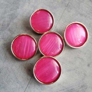 5個セット・同色ボタン・お買い得価格ボタン・大サイズ・ピンク