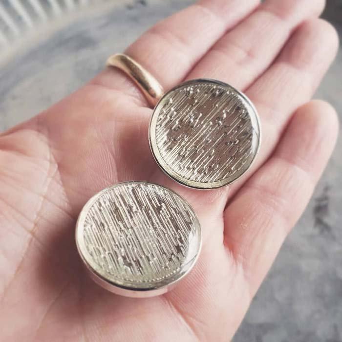 5個セット・同色ボタン・お買い得価格ボタン・大サイズ・クリア サブイメージ