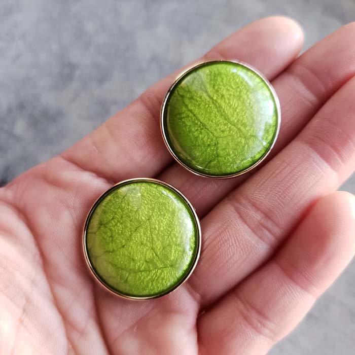 5個セット・同色ボタン・お買い得価格ボタン・大サイズ・ライトグリーン サブイメージ