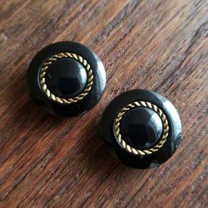 No.53/ブラック/1.8cm/レトロボタン・2個セット