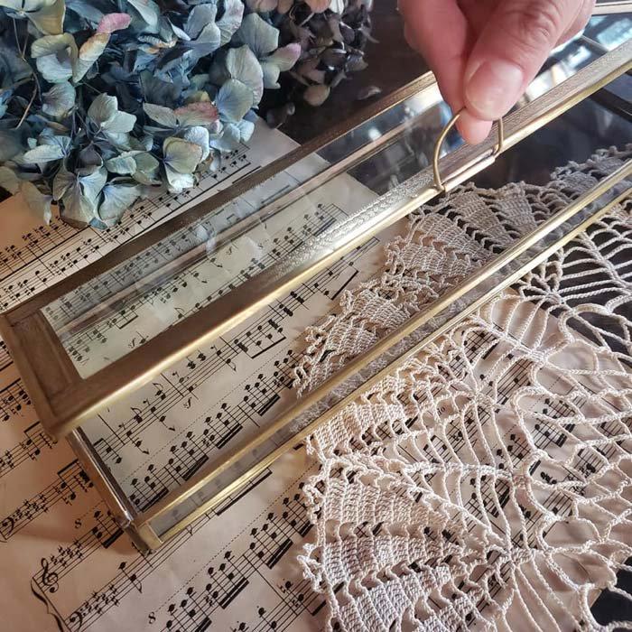 真鍮・ブラス・ガラスケース・レトロケース サブイメージ