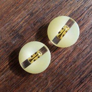 No.78/イエロー/2cm/レトロボタン・2個セット