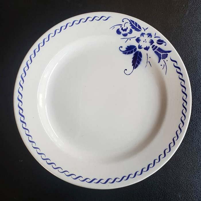 BOCH・ベルギー・皿・リーズデザイン・青花柄 メインイメージ