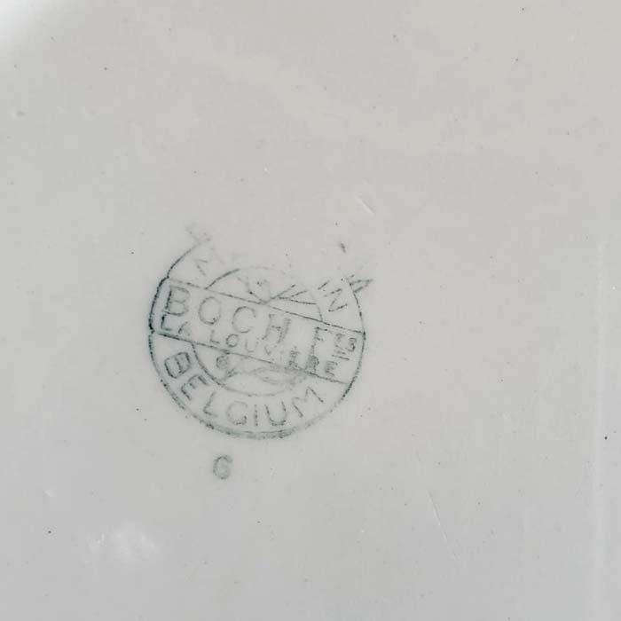 BOCH・ベルギー・皿・リーズデザイン・青花柄 サブイメージ