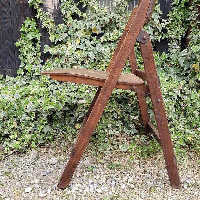 ヴィンテージ・木製・折りたたみチェア サブイメージ