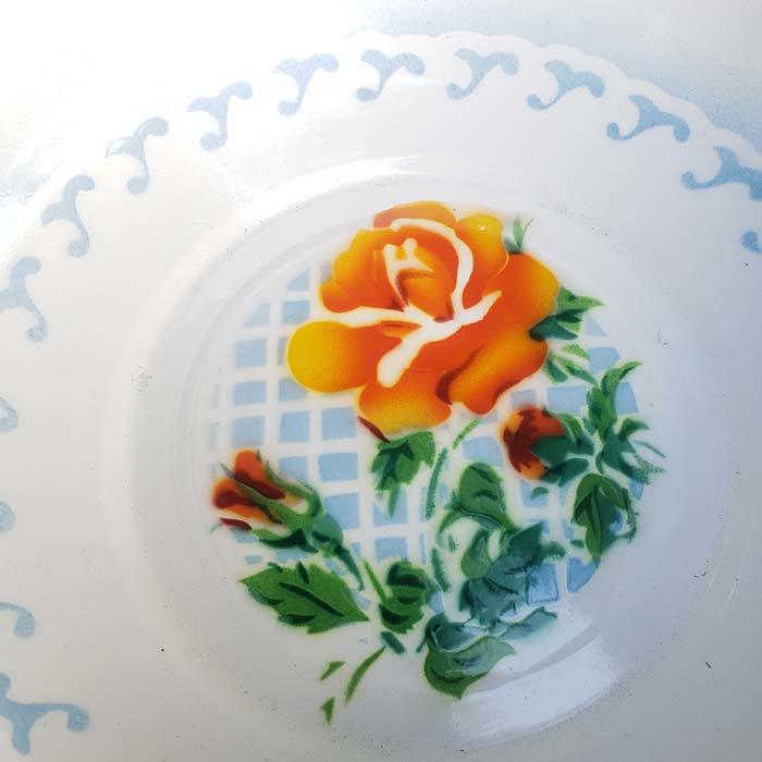 ベトナム・ホーロー・レトロ花柄・洗面器 サブイメージ
