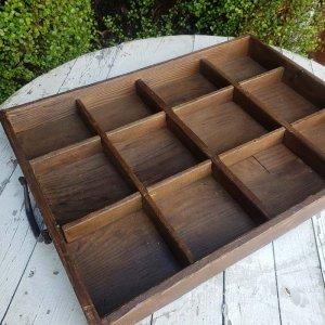 仕切りケース・レトロ・木製品・コレクションケース